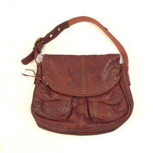 Lucky Brand Fold Over Stash Hobo Shoulder Bag